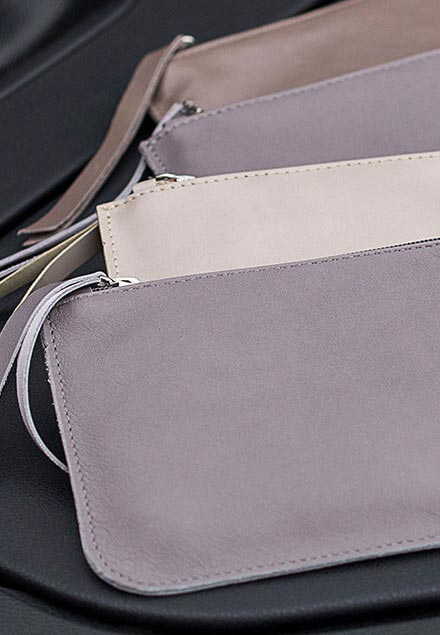 Leather pouch coin purse gray Diana Florian com.jpeg