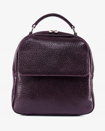 City Small Leather Backpack in Purple Italian Calfskin First picture gr.jpeg
