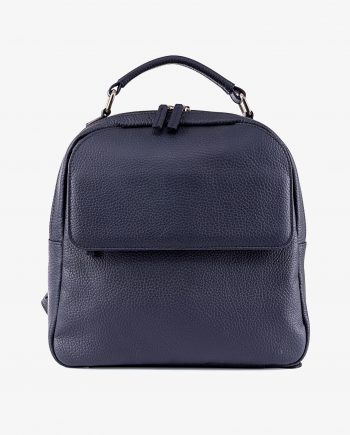 Small Leather Backpack in Blue Gray Italian Leather Main picture gr.jpeg