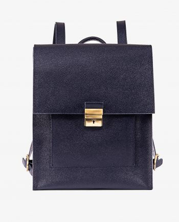 Blue Leather Backpack Briefcase Italian Saffiano First picture gr.jpeg