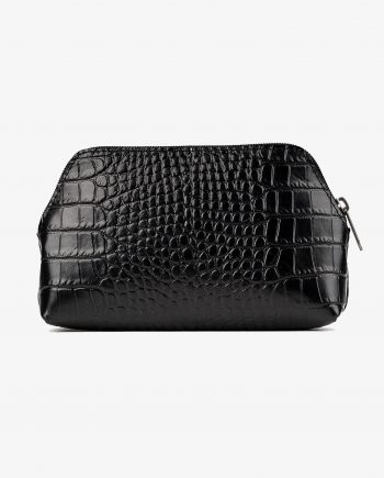 Mens Toiletry Bag Black Croco Leather First Picture.jpeg