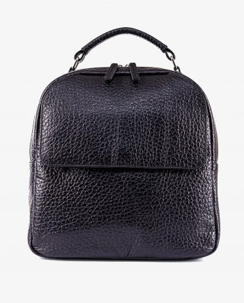 Small Leather Backpack in Black Italian cowhide Main image gr.jpeg