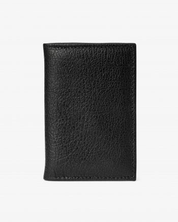 Black Leather Credit Card Holder Italian calfskin First picture.jpeg