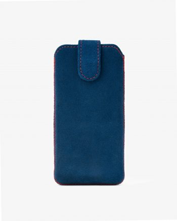 Blue Suede Iphone se Leather Case Front image.jpeg