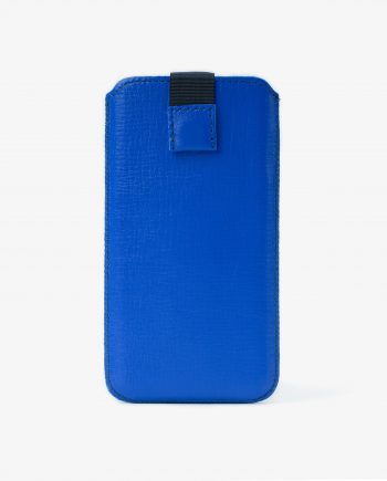 Blue iPhone 6 6s 7 8 Leather Pouch Case Italian calfskin Main image.jpeg