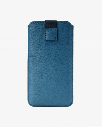 Blue iPhone 6 7 8 Saffiano Leather Case Pouch First image,.jpeg