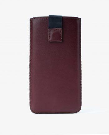 Burgundy iPhone X Leather Case Italian Calfskin First picture.jpeg