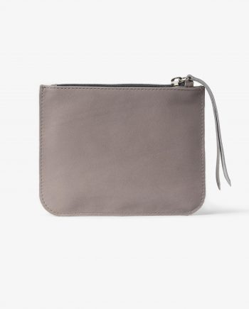Gray Small Leather Pouch SMooth Italian calfskin Main picture.jpeg