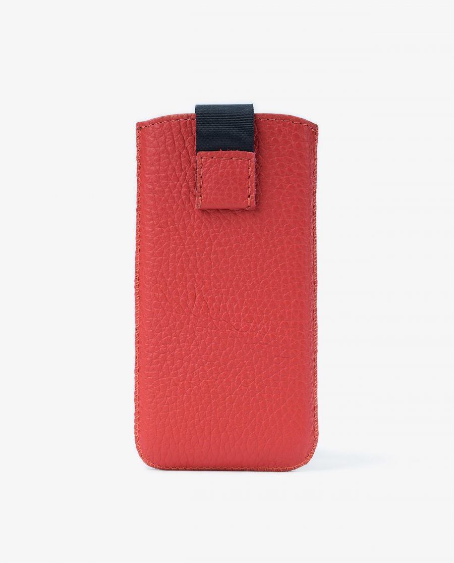 Iphone se Leather Case Red Italian Cowhide Main picture