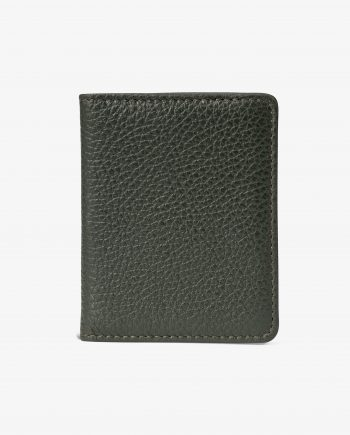 Olive Green Leather Credit Card Holder Main picture.jpeg