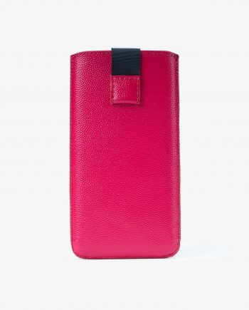 Pink iPhone X Leather Case Italian Calfskin Main picture.jpeg