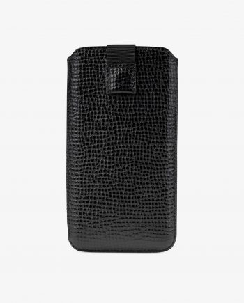 Black Leather iPhone X Case Main picture.jpeg