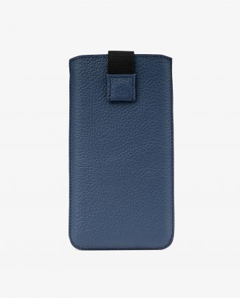 Navy Blue iPhone X Leather Case Main picture.jpeg