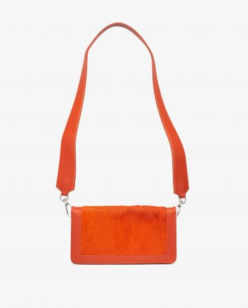 Orange Calf Hair Leather Clutch Bag Main picture.jpeg