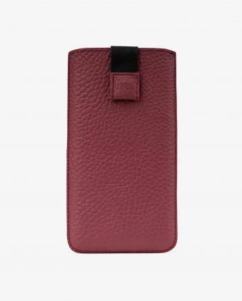 Premium Burgundy iPhone X Leather Case Main picture.jpeg