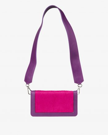 Purple Leather Clutch With Fuchsia Calf Hair First picture.jpeg