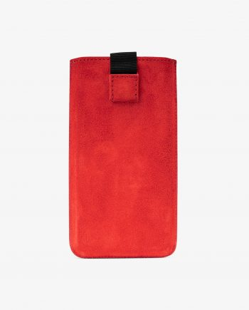Red Suede Leather iPhone X Case First image.jpeg