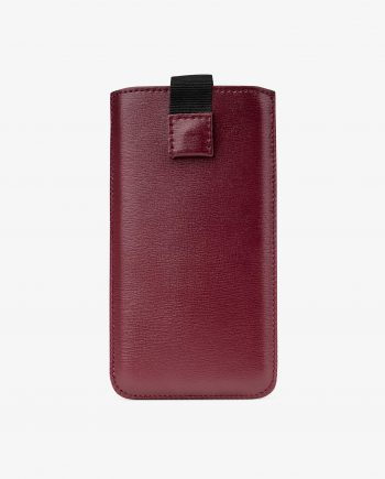 Smooth Burgundy iPhone X Leather Case Main picture.jpeg