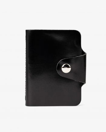 Snap Button Black Leather Card Case Main picture.jpeg