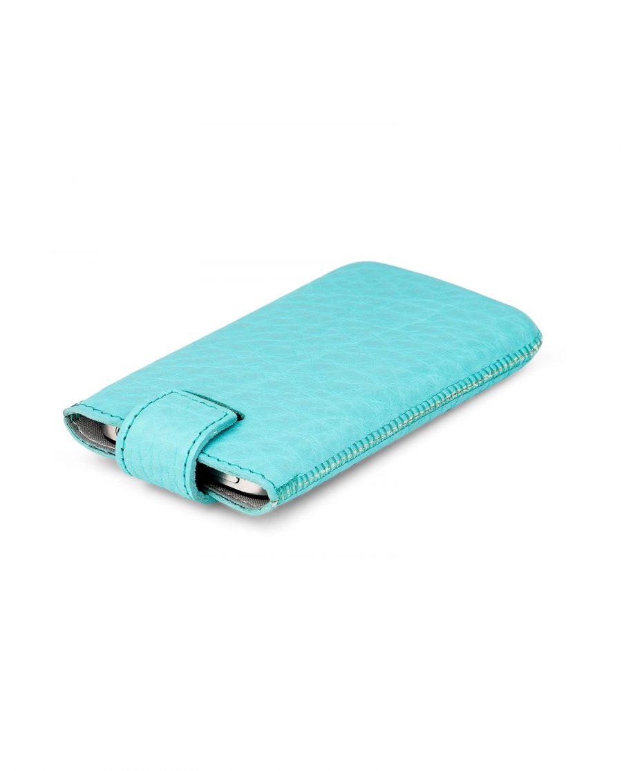 Turquoise iPhone 5-5s-5c-SE Leather Case Back side