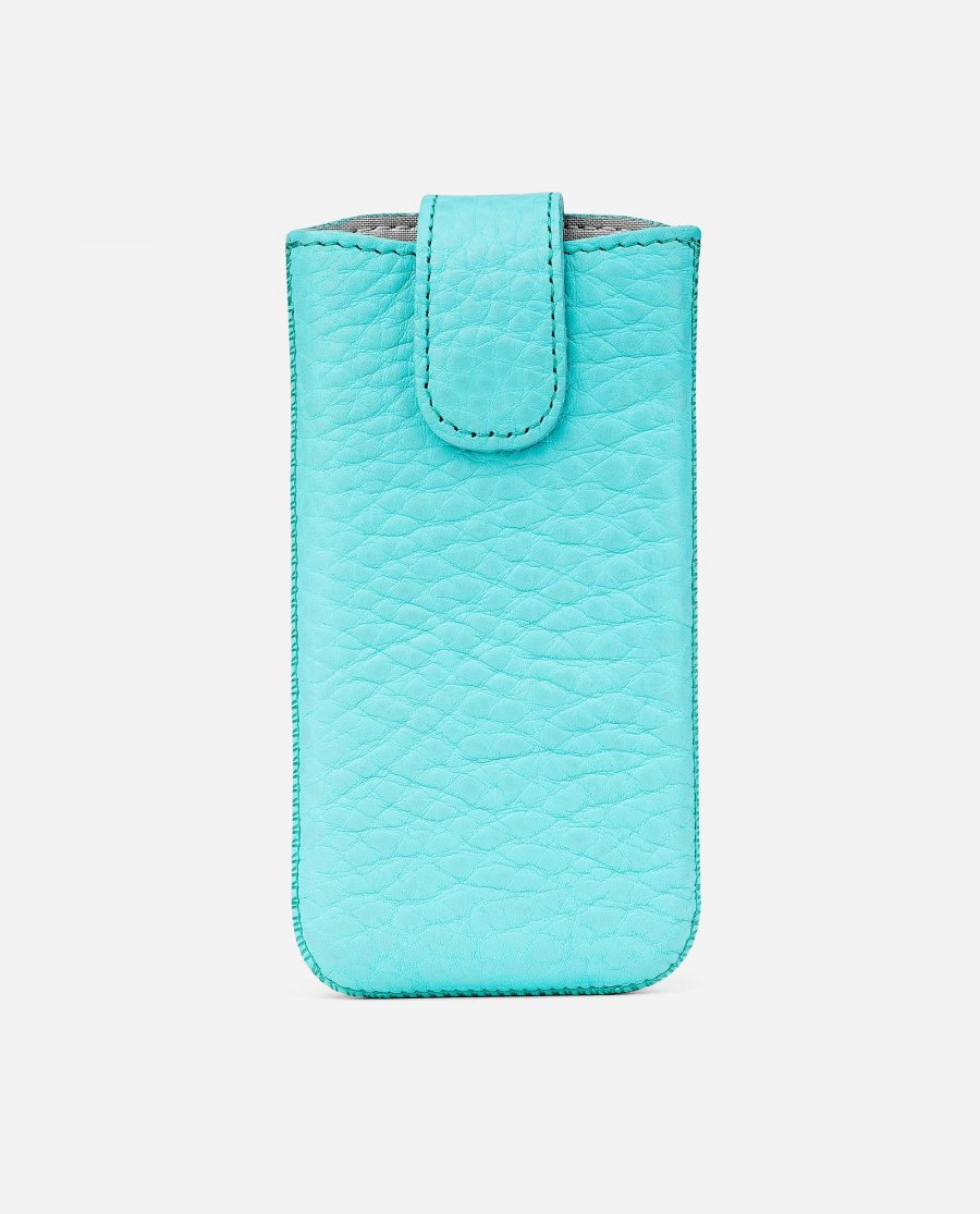 Turquoise iPhone 5-5s-5c-SE Leather Case First image