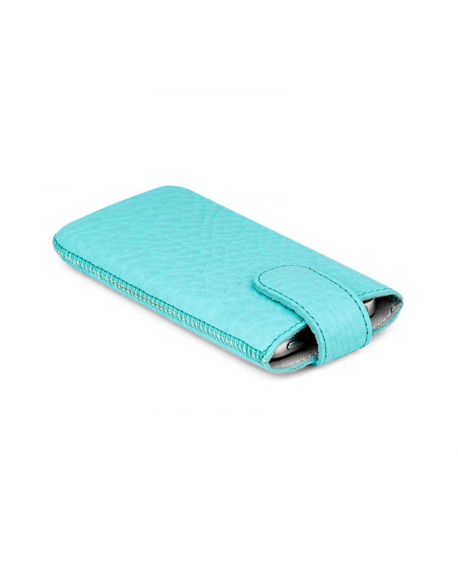 Turquoise iPhone 5-5s-5c-SE Leather Case Side image