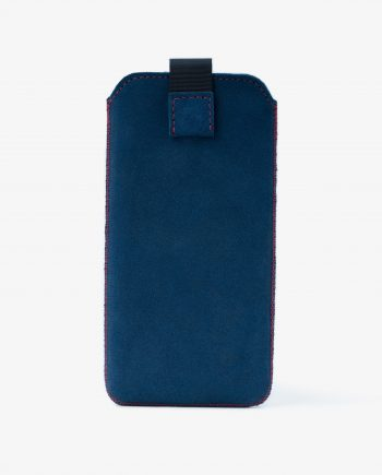 iPhone XS Max Sleeve Case in Blue Suede Leather Diana Florian First image.jpeg