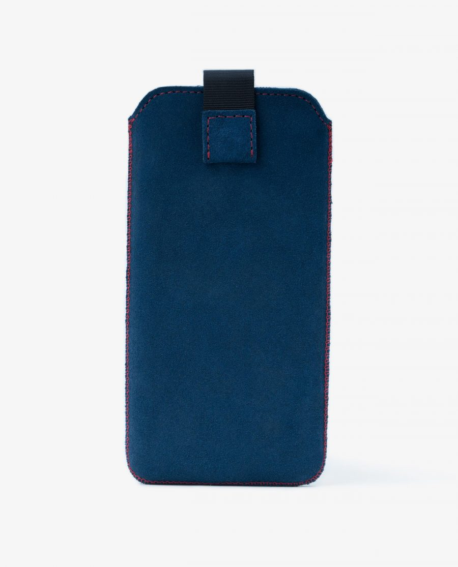 iPhone XS Max Sleeve Case in Blue Suede Leather Diana Florian First image