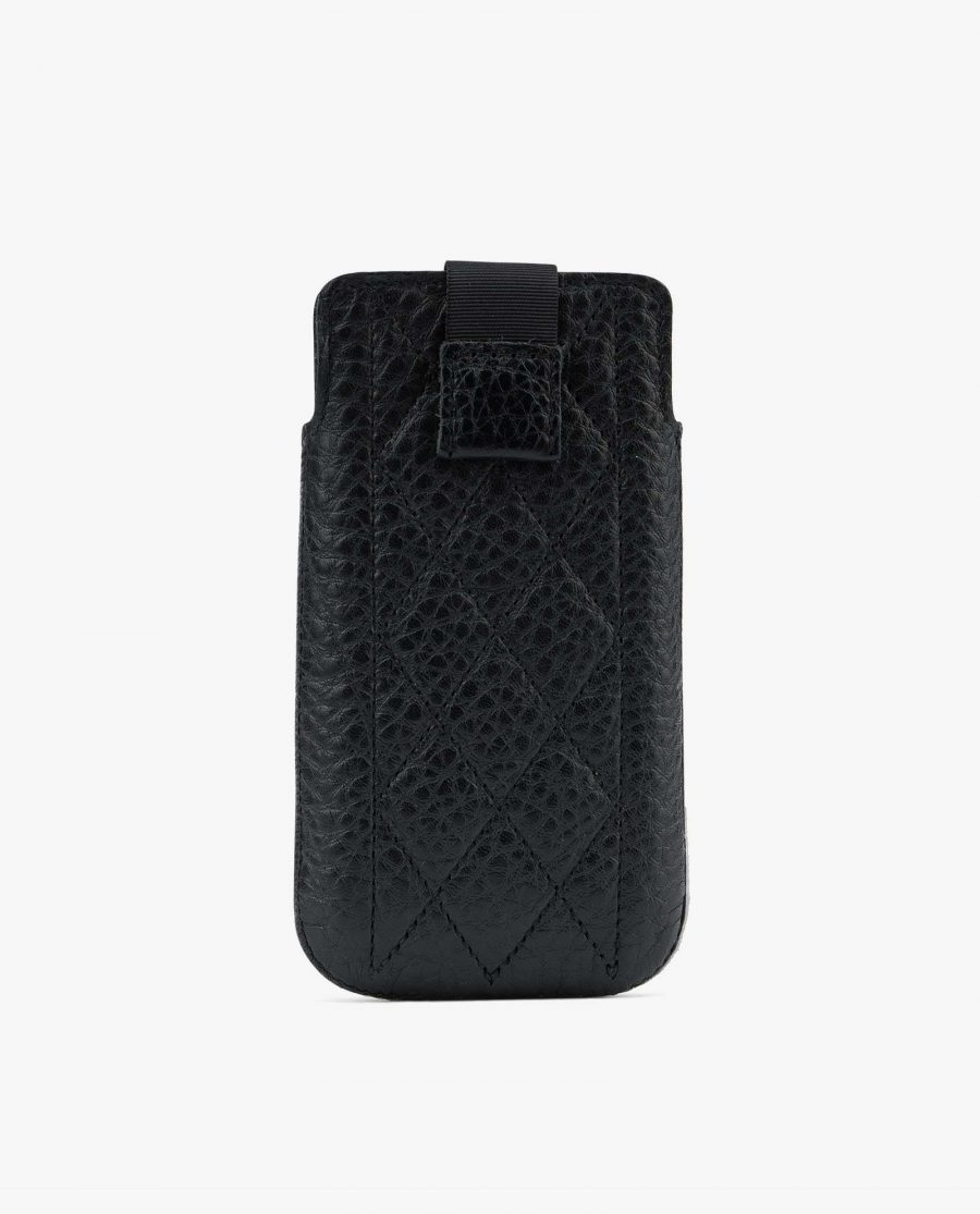 Black iPhone 5 5c 5s SE case Quilted Leather Diana Florian