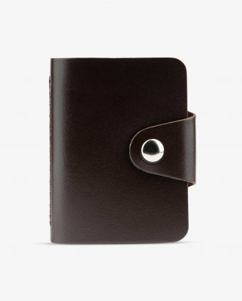 Dark Brown Leather 20 Credit Card Case Diana Florian