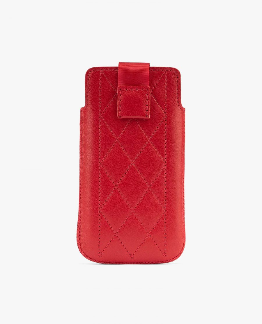 Red iPhone SE case Leather sleeve iPhone 5 5s 5c Quilted Leather iPhone case luxury Wallet Best protection Diana Florian