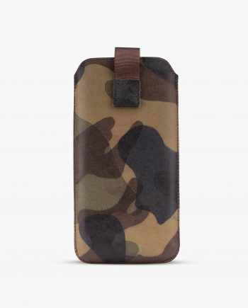 Camo iPhone 8 Plus Case Genuine Leather 1