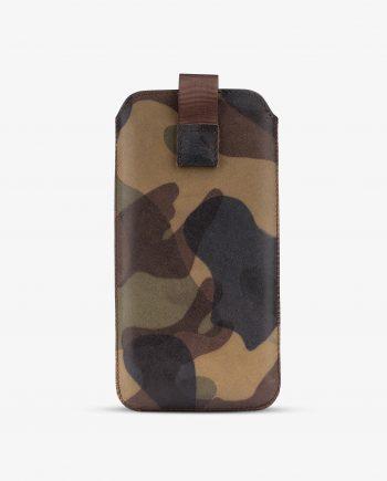 Camo iPhone 8 Plus Case Genuine Leather 1
