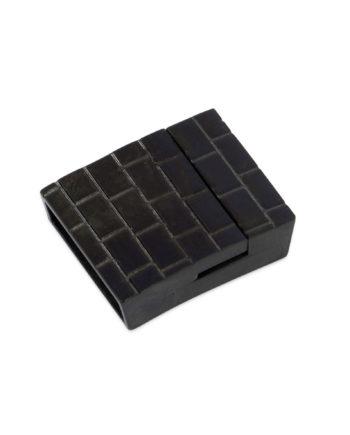 Black magnetic bracelet clasp 20 mm Stainless Steel LOBL20STBR 1