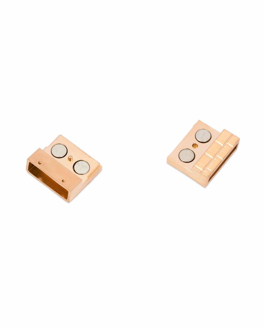 Rose Gold magnetic bracelet clasp – 20 mm Stainless Steel LOGD20ROBR 4