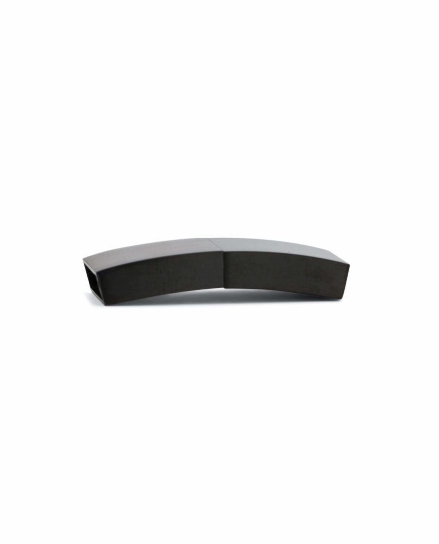 magnetic bracelet clasps for leather – black 15 mm LOBL15STEE 2