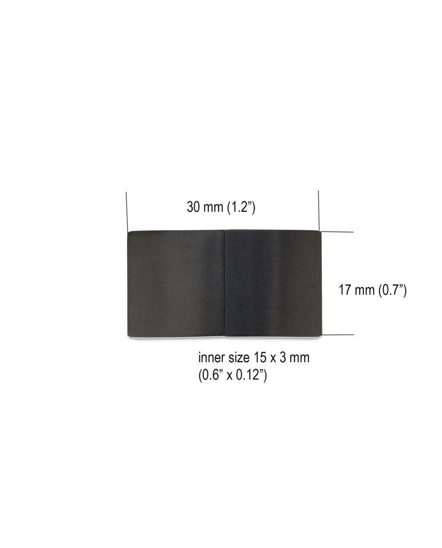 magnetic bracelet clasps for leather – black 15 mm LOBL15STEE 4