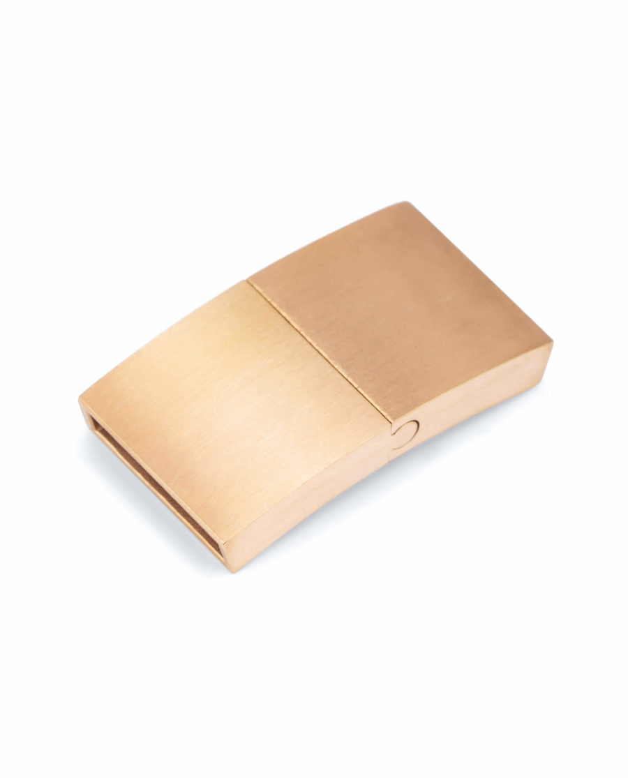 magnetic bracelet clasps for leather – rose gold 15 mm LOGD15STEE 1