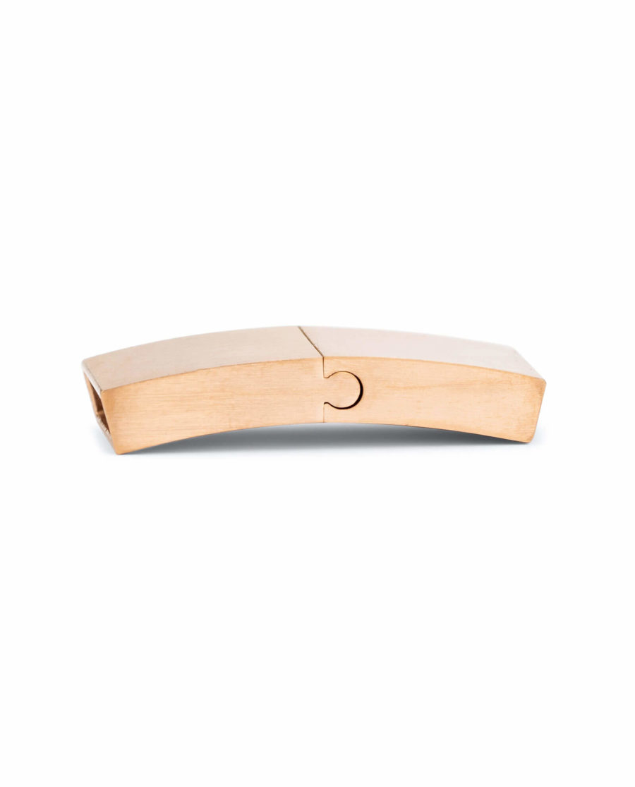 magnetic bracelet clasps for leather – rose gold 15 mm LOGD15STEE 2