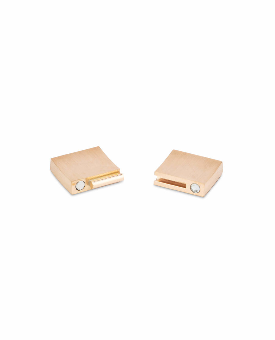 magnetic bracelet clasps for leather – rose gold 15 mm LOGD15STEE 5