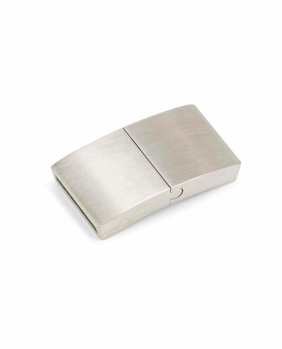 magnetic bracelet clasps for leather – stainless steel 15 mm LOSI15STEE 1